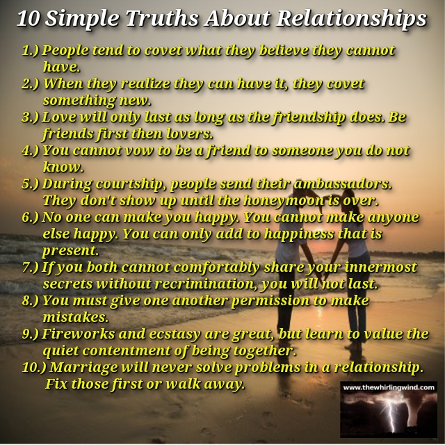 10 Simple Truths About Relathionships Meme