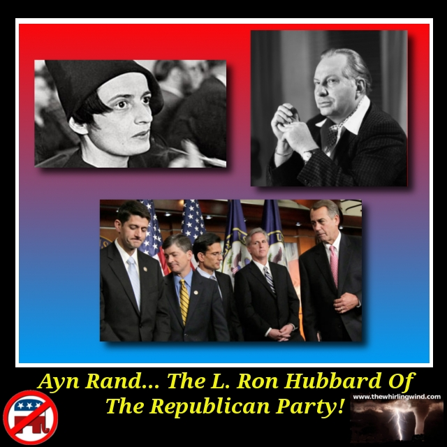 Ayn Rand - L. Ron Hubbard Meme