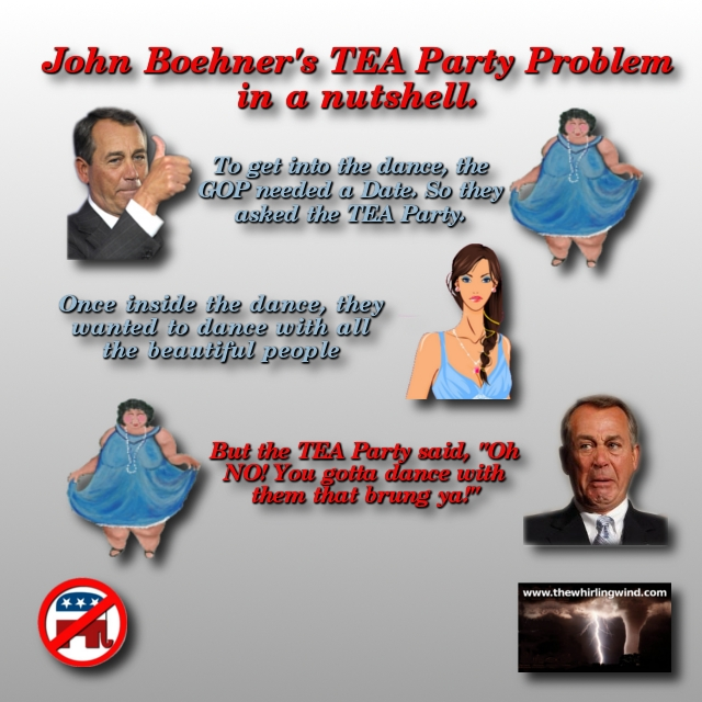 John Boehner's TEA Party Problem Meme