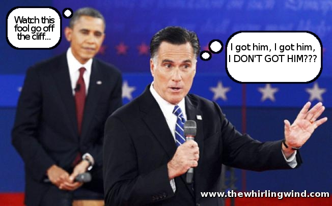 Mitt Romney going off the cliff - Debate #2