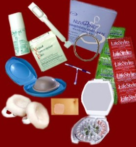 Array of contraceptive devices
