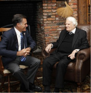 Billy Graham meets Mitt Romney