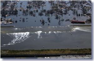 Hurricane Katrina broken levee