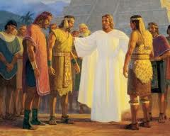Mormon Jesus with the Lamanites and the Nephites