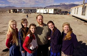 Tom Green poses with his five wives after being recently released from jail