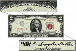 Red Treasury Bill issued under President Kennedy