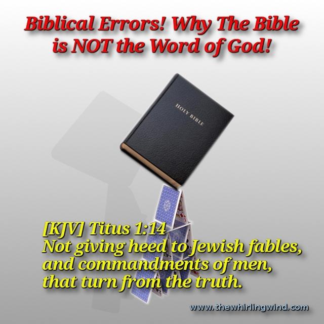 Biblical Errors Header