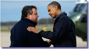 President Obama meets Governor Christie