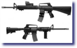 AR-15 and M-16