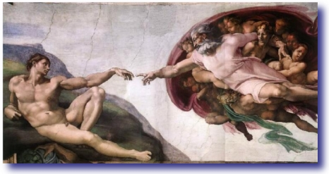 Michael Angelo's The Creation Of Adam