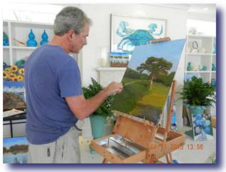 Destroying America - Bush Painting